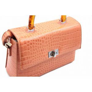 Sac à main orange effet croco boutique Elie Pour Elle à Cosne-sur-Loire