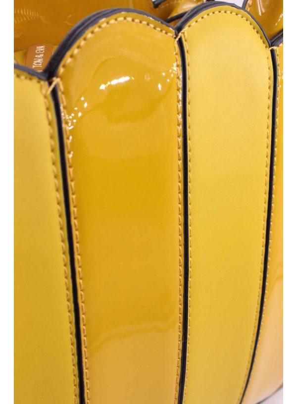 Sac à main jaune vernis boutique Elie Pour Elle à Cosne-sur-Loire 58200