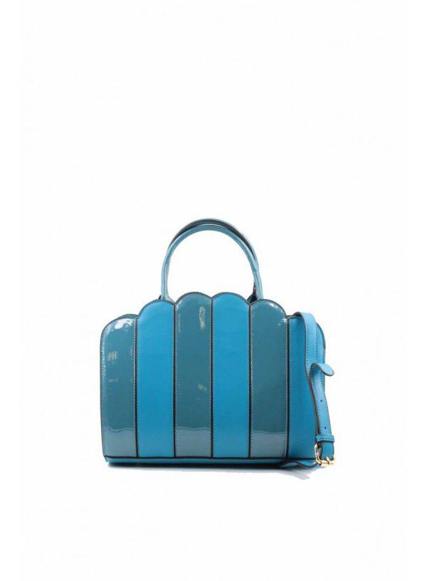 Sac à main bleu vernis boutique Elie Pour Elle à Cosne-sur-Loire 58200