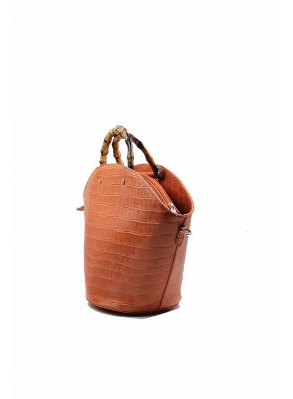 Sac à main effet croco marron boutique Elie Pour Elle à Cosne-sur-Loire
